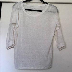 JJcrew 3/4 sleeve shirt, 100% linen.